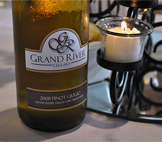 Bottle of Grand River Cellars Pinot Grigio